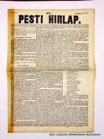 1847 szeptember 2  /  Pesti Hirlap 1. Kiadás  /  Régi ÚJSÁGOK KÉPREGÉNYEK MAGAZINOK Szs.:  8685