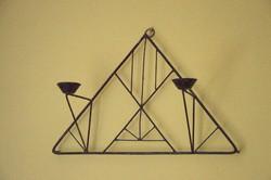 Geometrikus retro fém gyertyatartó - iparművész vagy házibarkács