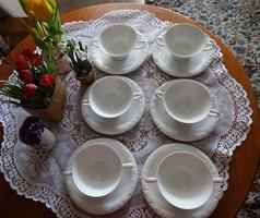Rosenthal fehér leveses csészék 6 db