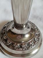 Vintage vastagon ezüstözött váza
