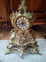 Nagy méretű és elég súlyos barokk réz óra 35.5 x 30 x 10 cm