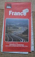 Franciaország autótérképe 1. (francia térkép, turista)