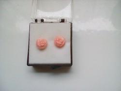 Puder rózsaszinű korall fülbevaló