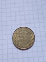 Ritkább 20 Centimes Franciaország 1965 !