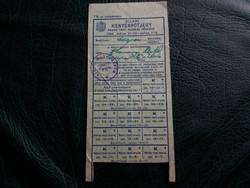 Állami kenyérpótjegy nehéz testi munkás részére. Szepsi ( Felvidék) 1944. Nyomdahibás!