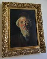 Ujváry Ignác (1860 -1927) - Rabbi portré
