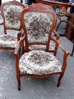 4 db barokk karfás szék