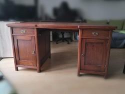 Cseresznyefa, szecessziós íróasztal, óriási tárolási felülettel helyszűke miatt sürgősen eladó!