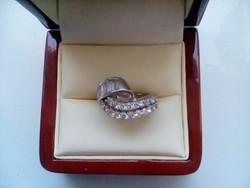 Csodás antik cirkon köves ezüst gyűrű