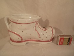 Porcelán - cipő - GMUNDNER - nagy - 20 x 10 x 9 cm - tökéletes - hibátlan