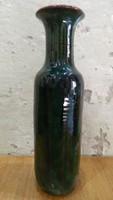 Jelzett retro kerámia váza L.M. szignóval