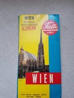 Bécs-Wien térkép.