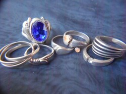 7db ezüst gyűrű.Mindegyik jelzett.