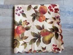 Csodaszép gyümölcsös asztalterítő 140 x 140 cm