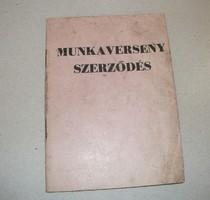 Munkaverseny szerződés, 1950-es évek (?)