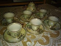 Zajecar, Jugoszláv,Kávés készlet, cukor tartóval, szép állapotban.