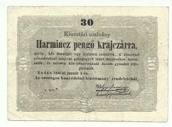 30 Harmincz pengő krajczárra Kossuth bankó 1848 3.