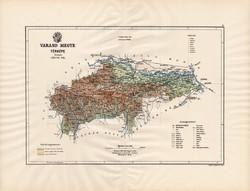 Varasd megye térkép 1890 (3), vármegye, régi, atlasz, eredeti, Kogutowicz Manó, Gönczy Pál, 43 x 57