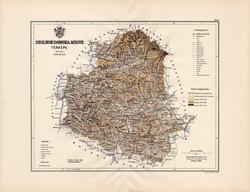 Szolnok - Doboka megye térkép 1889 (3), vármegye, atlasz, Kogutowicz Manó, 43 x 56 cm, Gönczy Pál