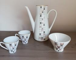 Freiberger porcelán mokkás szett maradék pótlásnak kávés csészék kiöntő cukortartó