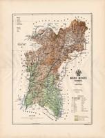 Bars megye térkép 1888 (3), vármegye, atlasz, Kogutowicz Manó, 43 x 56 cm, Gönczy Pál