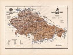 Kis - Küküllő és Nagy - Küküllő megye térkép 1886 (3), Magyarország, vármegye, régi, atlasz, eredeti