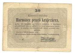 30 Harmincz pengő krajczárra Kossuth bankó 1848 2.