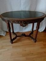 Faragott,ovális, körtefa asztal, Schwarzwald, Black forest..csókolózó galamb pár