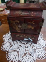 Antik kinai ékszeres szekrényke