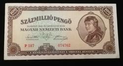 1946  SZÁZMILLIÓ PENGŐ SZÉP ÁLLAPOTBAN