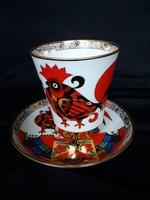 Kézzel festett, 22K aranyozott,Lomonosov porcelán teás szett