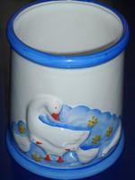 Húsvéti libás kerámia edény,váza