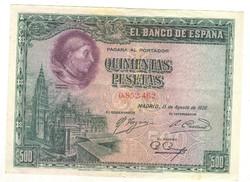 500 peseta 1928 Spanyolország