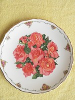 Porcelán Royal Albert dísztányér (rózsa)