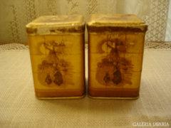 Retró - fém, fűszeres dobozkák - 50 évesek