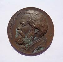 Karl Marx (1818 - 1883) jelzett, Weiss bronz plakett 1968