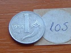 OLASZ 1 LÍRA 1954 BŐSÉGSZARU,MÉRLEG ALU. 105.
