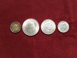 Hollandia ezüst 1, 2.5, 10 gulden sor