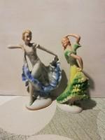 Kettő német balerina - 17 cm magasak, régiek