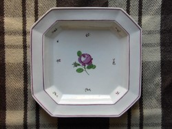 Alt Wien antik rózsás porcelán tál 1832 biedermeier korszak