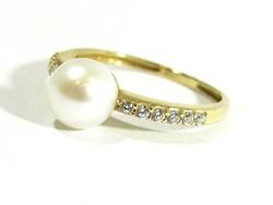 Arany gyűrű(Kecs-Au75404)