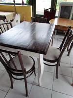 Festett parasztasztal+ 4 db thonett szék felújítva
