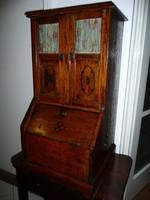 KURIÓZUM! Antik szecessziós intarziás KLINGSOR fonográf / gramofon szekrényke