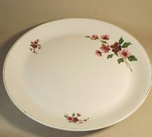 Antik Gránit rózsa mintás sültes tányér