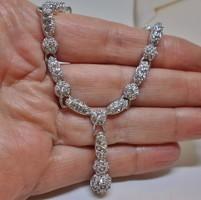 Gyönyörű valódi hattyújeles swarovski kristály nyakék