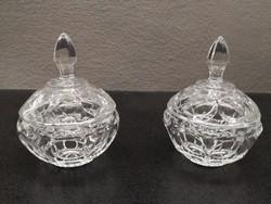 Kristály üveg bonbonier párban