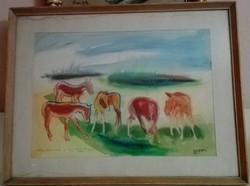 Réti Zoltán (1923-2018) : Legelésző lovak