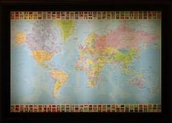 0V841 Világítós világtérkép 75 x 105 cm