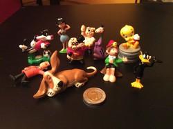 Retro trafikáru játék műanyag figurák 10 db.