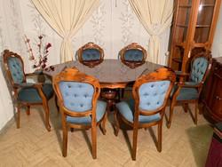 Olasz neobarokk étkező szett 6 db székkel